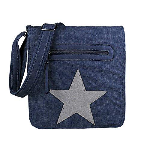 Dark Blue-gray Beige-gray - Courierbag Unisex Canvas Bag Messenger Bag Shoulder Bag Multi-purpose Shoulder Bag Cloth Bag Star