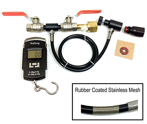 Refill Kit for Soda Maker CO2 Bottles and Paintball CO2 Bottles by Palmer Pneumatics