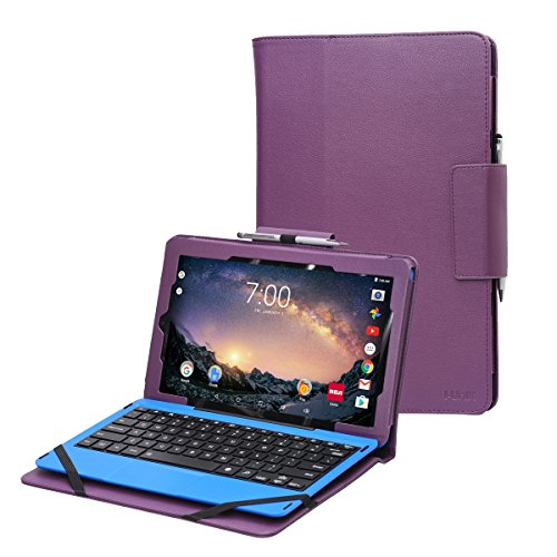 "RCA Galileo Pro 11.5 case by i-UniK Compatible RCA Galileo Pro 11.5"" Model#RCT6513W87DK C Tablet with Keyboard Case [Bonus Stylus] (Purple)"