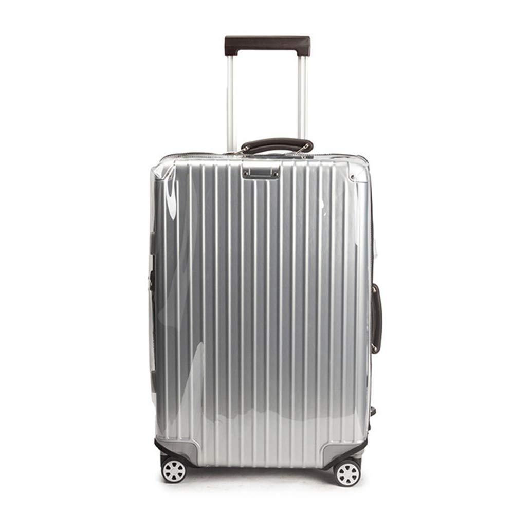 YOJOLO Luggage Covers,Dustproof Scratchproof Waterproof Clear Transparent PVC Suitcase Protectorsuitcase Cover Protector,for 18Inch-32 Inch Suitcase,20inch