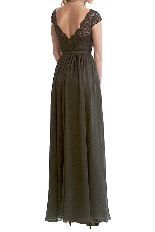 Milano Bride Damen Elegant Lang Chiffon Abendkleider Festkleider  Spitzekleider Brautmutterkleider Faltenwurf: Amazon.de: Bekleidung