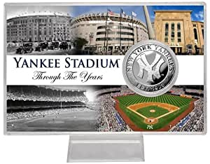 "MLB New York Yankees Yankee Stadium ""Through the Years"" Silver Coin Card"