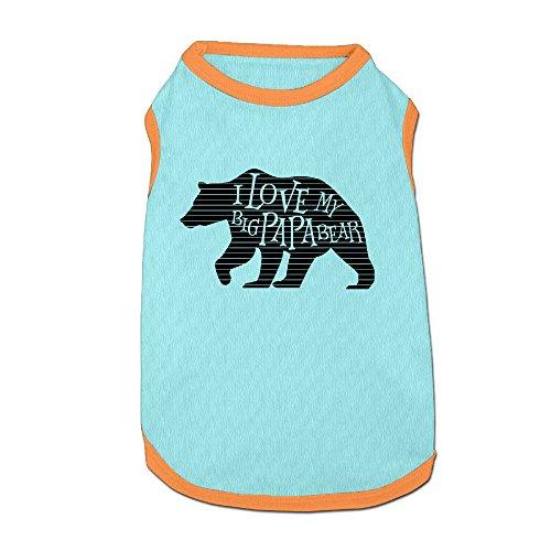 Homemaker Costume (I Love My Big Papa Bear Puppy Shirt Summer Pet Shirt Dog Cat Costume Clothing)