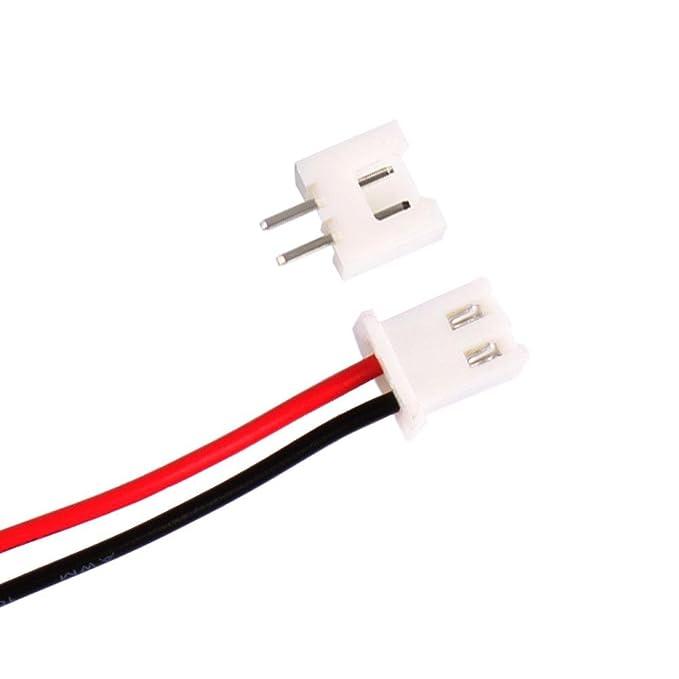 10 Stück Micro JST 1.25 2 Pin Stecker mit Kabel