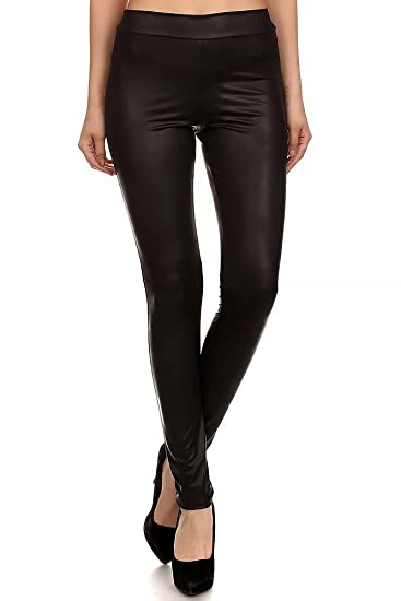 World of Leggings® Natural Texture Faux Leather Leggings