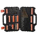 BLACKDECKER-KD1250K-QS-Martello-Tassellatore-e-Scalpellatore-1250-W-35-J-A7200-XJ-Titanium-Set-per-Forare-ed-Avvitare-109-Pezzi