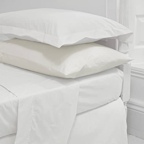 Attrayant Egyptian Cotton 200 Thread Count Fitted Sheet 4ft Small Double White