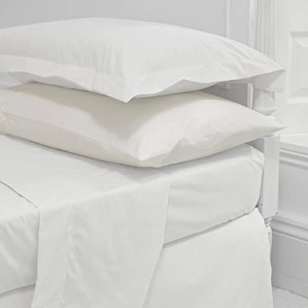 Egyptian Cotton 200 Thread Count Fitted Sheet 4ft Small Double White