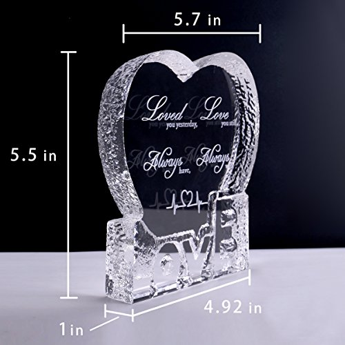 YWHL Love Crystal Sculpture gifts for Anniversary,Wedding,Valentine's Day by YWHL (Image #2)