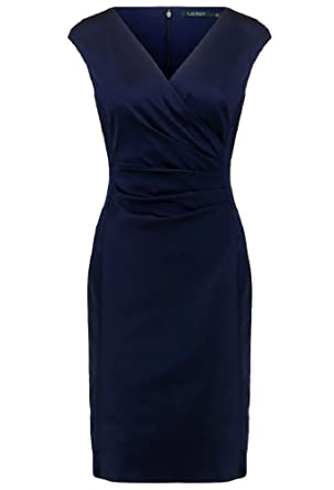 RALPH LAUREN Women\u0027s Satin Surplice Dress at Amazon Women\u0027s Clothing store: