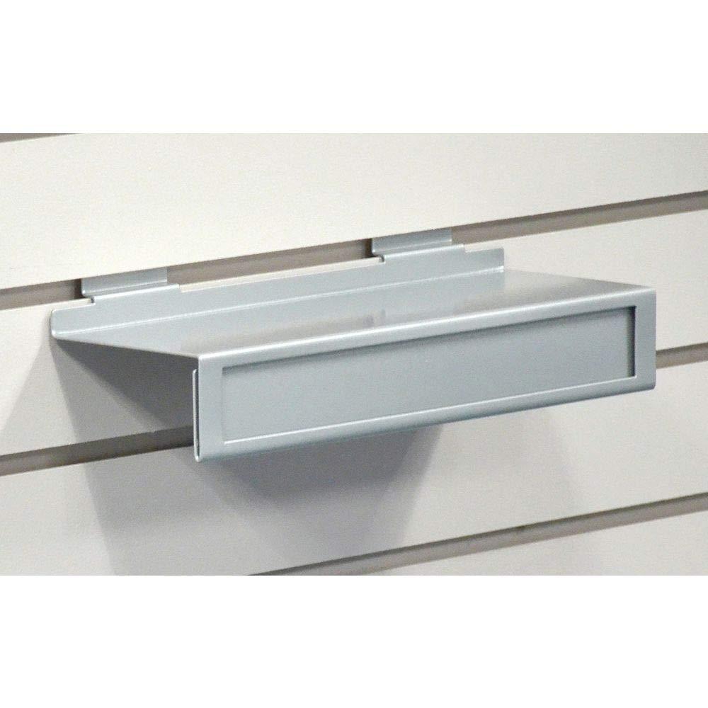 Slatwall Shoe Shelf Silver