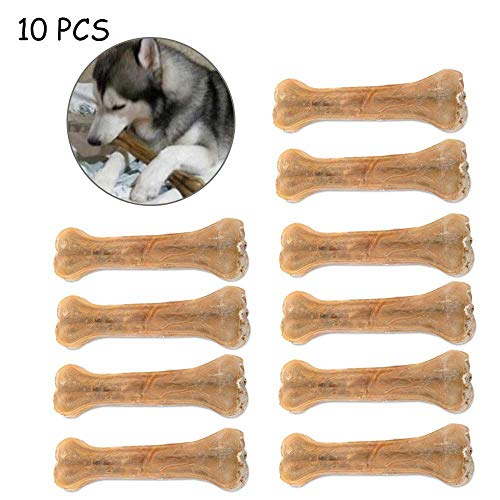 KOBWA Rawhide Bones for Dogs, Compressed Rawhide Beef Hide Bones for Dogs,Natural Pressed Fresh Gourmet Marrow Aggressive Chewers for Dogs ()