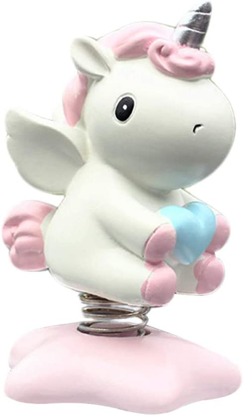 Holibanna Car Accessory Dashboard Toys Interior Decor Swing Unicorn Car Ornament Desk Gift for Home Party