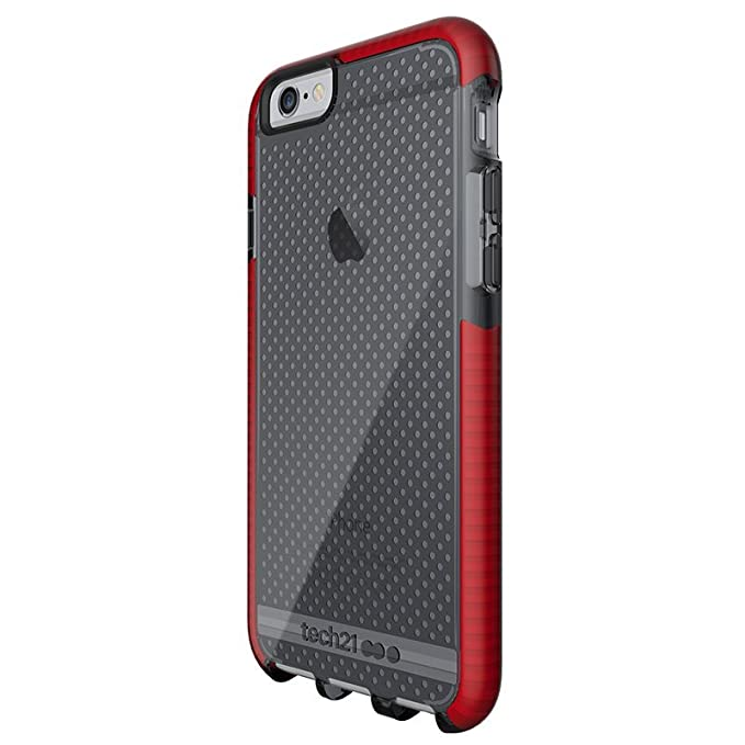 best website eae2a cda61 Apple iPhone 6 Plus/iPhone 6s Plus Tech21 Evo Mesh Fitted Case- Smokey/Red