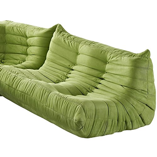 LexMod Waverunner Modular Sectional: Loveseat in Green