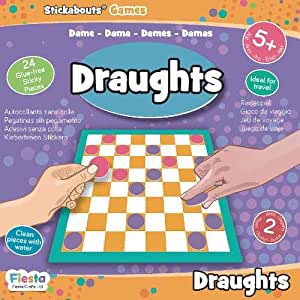 Fiesta Crafts Draughts - Stickabouts Game T-2920