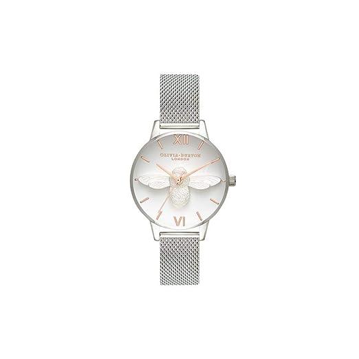 Olivia Burton Reloj Analógico para Mujer de Cuarzo con Correa en Acero Inoxidable OB16AM146: Amazon.es: Relojes