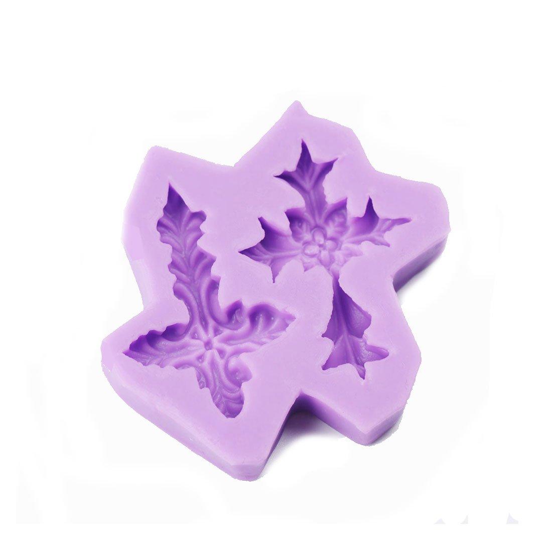 Silicone Mold Soap Fondant Cake Decoration Sugar Craft DIY Gumpaste Cake Decorating Clay (2 Cross Shape)