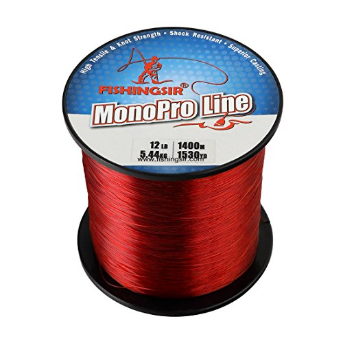Red premium monofilament fishing line superior nylon for Red fishing line