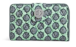 Vera Bradley Women\'s Turnlock Wallet Nomadic Blossoms Checkbook Wallet