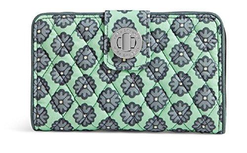 Vera Bradley Women's Turnlock Wallet Nomadic Blossoms Checkbook Wallet ()