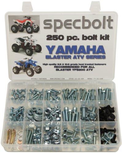 (250pc Specbolt Yamaha Blaster Bolt Kit for Maintenance & Restoration OEM Spec Fasteners ATV Quad YFS200)