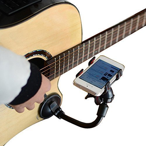 LMS Guitar Sidekick Universal Smartphone Support Phone Holder for iPhone 6s Plus 6s 5s 5c Samsung Galaxy S6 Edge Plus S6 S5 S4 Note 5 4 LG