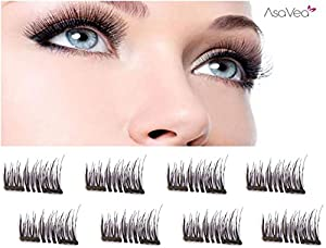 Upgraded Double Magnet - Magnetic Eyelashes - 3D Eyelashes (8 piece)