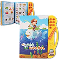 Pasaca Toys Kids Learning Book, E-Book with 6 Learning Game, Learning ABC, Spelling, Españal Juguetos(Yellow)