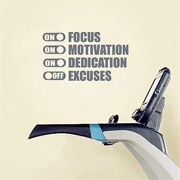 Focus On Motivation On Excuses Off Motivación del gimnasio Cita de ...