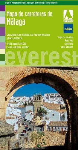 Mapa de carreteras de Málaga: Editorial Everest: 9788444130781: Amazon.com: Books