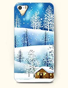OOFIT Phone Case design with a Frozen and Snow-covered Land - Merry Christmas for Apple iphone 5 5s 5g