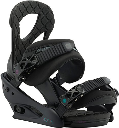 (Burton Stiletto Snowboard Bindings Black Matte Womens Sz M (6-8))