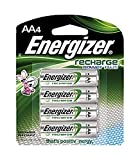 Energizer Recharge Power Plus AA 2300 mAh Rechargeable Batteries, Pre-Charged, 4 count (NH15BP4)