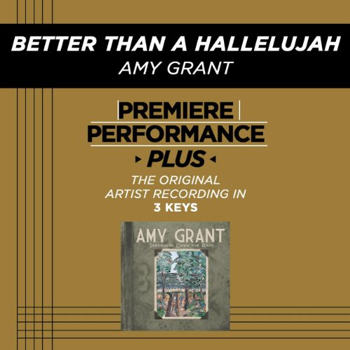 Better Now Mp3 Song Download: Better Than A Hallelujah (Medium Key Performance Track