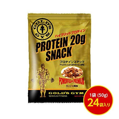 GOLD'S GYM(ゴールドジム) プロテインスナック(コンソメ風味) 50g/袋 24袋 [ヘルスケア&ケア用品] B01HI3HTJQ