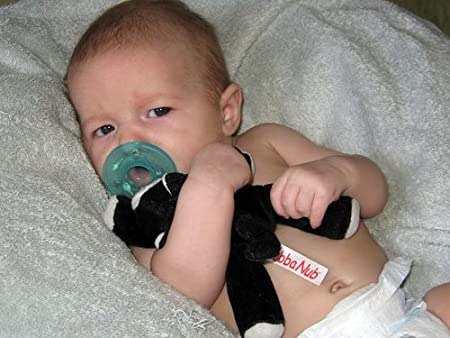 Amazon.com: Wubbanub Chupete Infantil ~ Negro Kitten: Baby