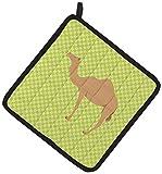 Caroline's Treasures BB7643PTHD Arabian Camel Dromedary Green Decorated Pot Holder, 7.5'' x 7.5'', Multicolor