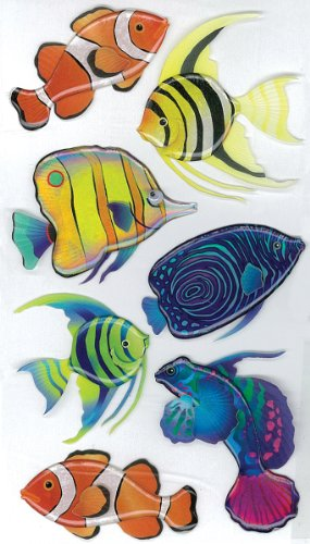 - Jolee's Boutique Vellum Tropical Fish Dimensional Stickers