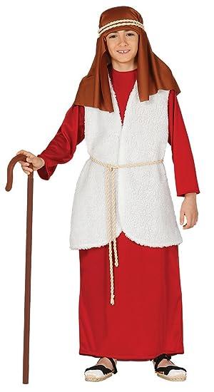 Guirca- Disfraz infantil de Hebreo pastor, Color rojo, 5-6 años (42540.0)