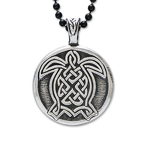 (Turtle Celtic Knot Pendant Fine Pewter Jewelry Hand Crafted In)