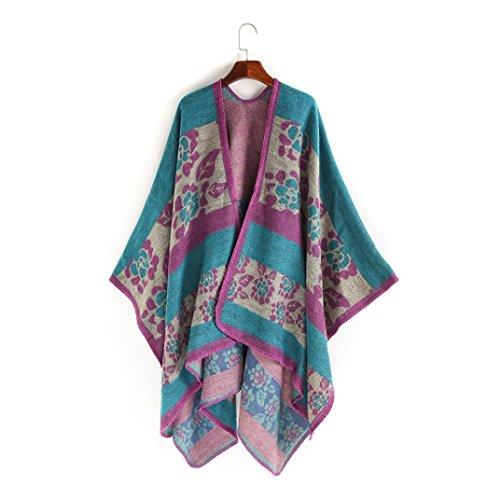 Cape Floral Femme Kolylong Shawl Kimono A8Yw87Uq