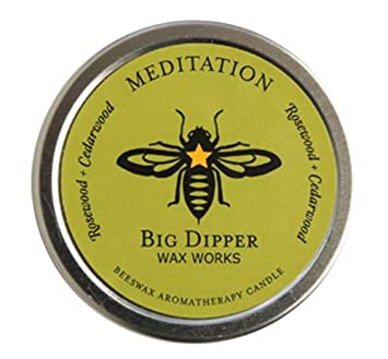 Long-lasting Hand-cast 100/% Pure Beeswax Candle Aromatherapy Tin Lavende Harmony by Big Dipper Wax Works