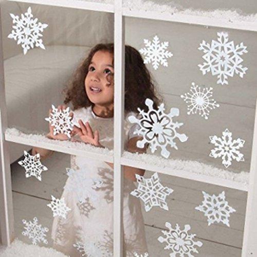 1 x Fensterdeko Weiße Schneeflocken Schnee Weiß Fensterbilder Weiße Schneeflocken & Winterlichemotiver Fensterbilder