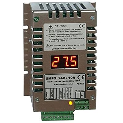 DATAKOM SMPS-2410 (24V/10A) Generator Start Battery Charger/Stabilized Power Supply with Display