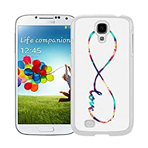 Colorful Samsung Galaxy S4 Case Infinity Love Galaxy Designs Durable Soft Rubber Silicone White Phone Cover Accessories