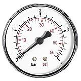60mm 10 Bar 150 Psi Pressure Gauge Air Oil or Water 1/4'' BSP European Thread Rear Entry Manometer
