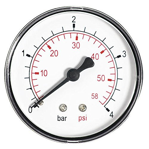 60mm 10 Bar 150 Psi Pressure Gauge Air Oil or Water 1/4'' BSP European Thread Rear Entry Manometer