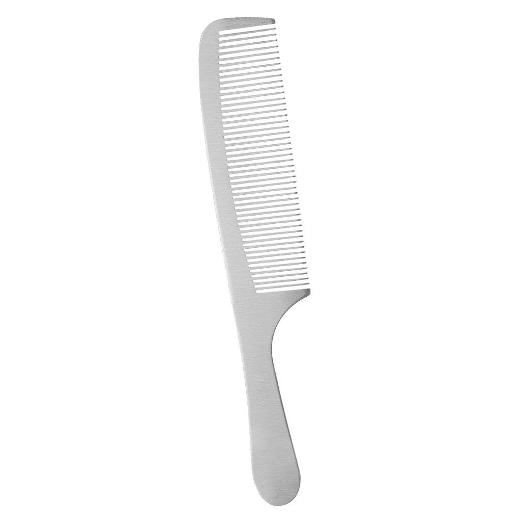 Sharplace Peigne en Métal Anti-statique pour Découpe de Cheveux, Brosse à Coiffure à Cheveux à Chignon - K5