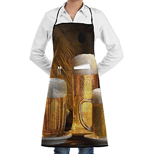 Beer Wallpapers For Desktop Fashion Waterproof Durable Apron With Pockets For Women Men -